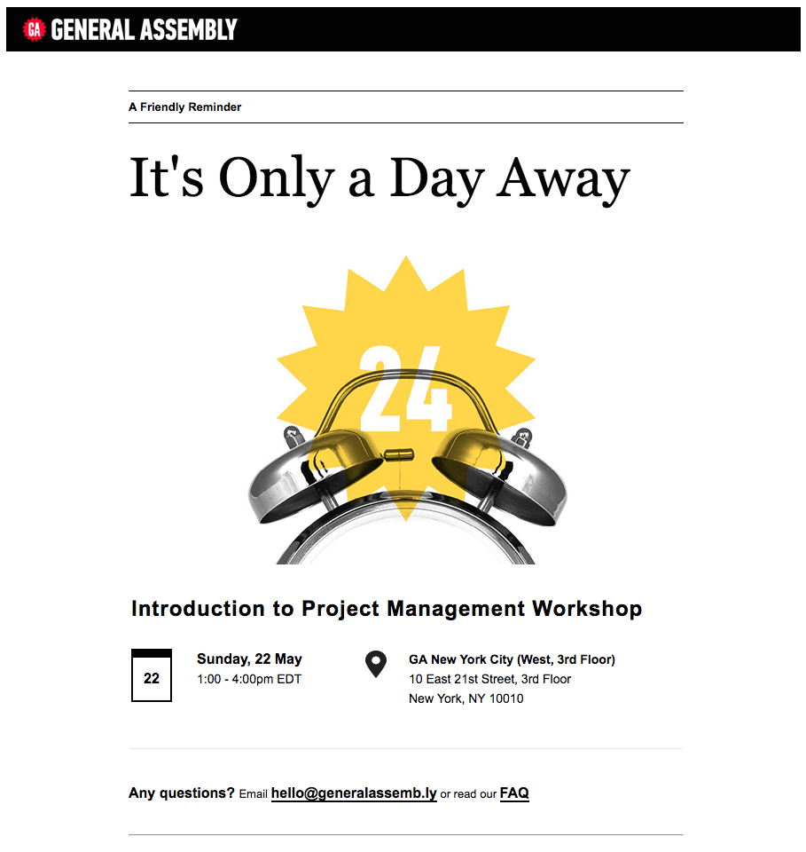 5 Effective Strategies For Event Reminder Emails Email Design Workshop