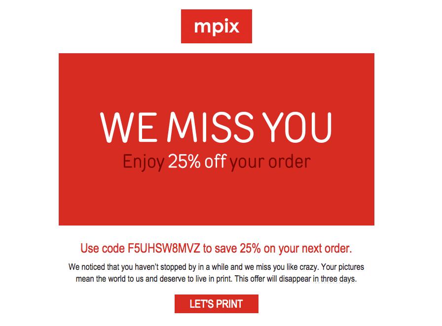 Mpix reengagement emails