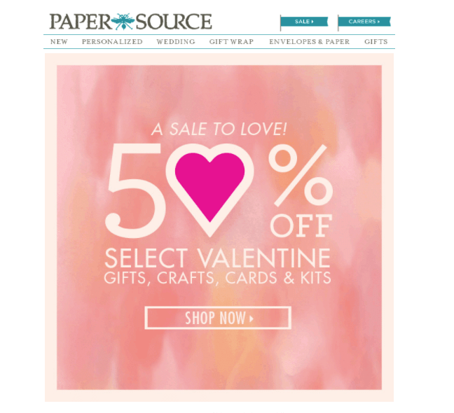 Paper Source Valentine's Day Email GIFs