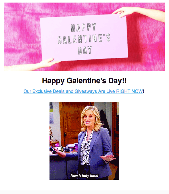Subscription Addiction Valentine's Day Email GIFs