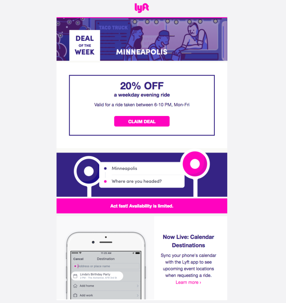 Lyft email personalization