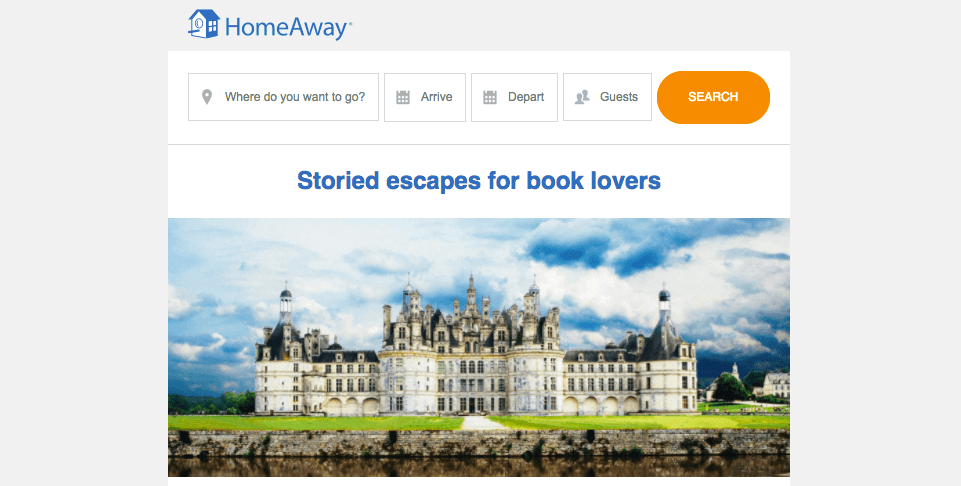 HomeAway email headers