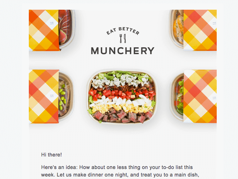 Munchery email headers
