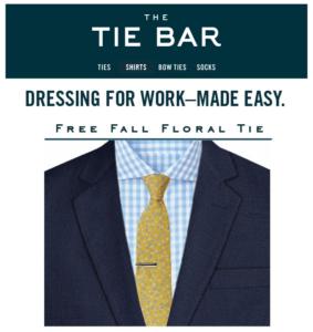 The Tie Bar email headers