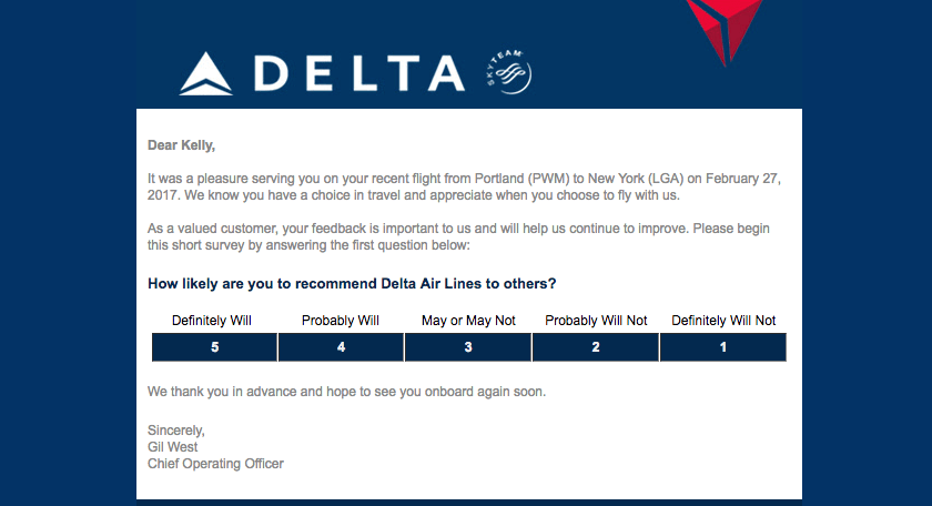 Delta event follow-up emails