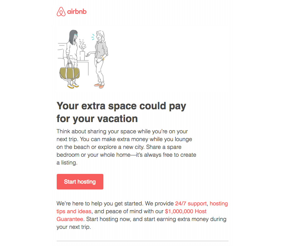 Airbnb Getting started emails