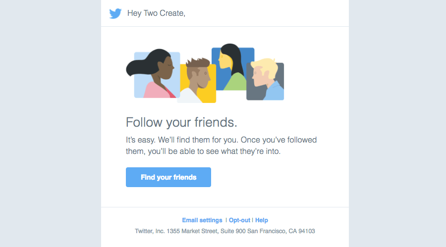 Twitter Getting started emails
