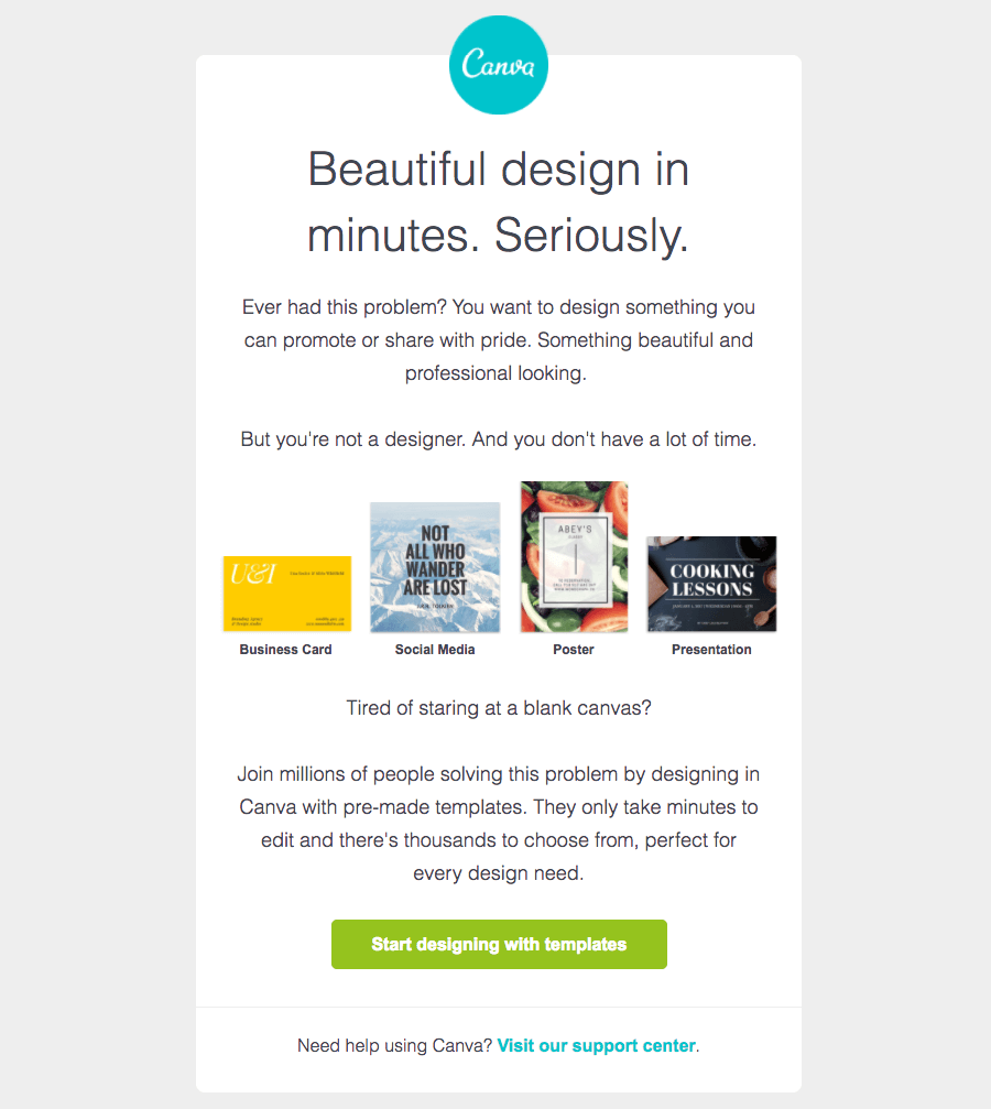 Canva Getting started emails