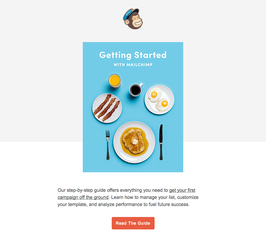 Mailchimp Getting started emails