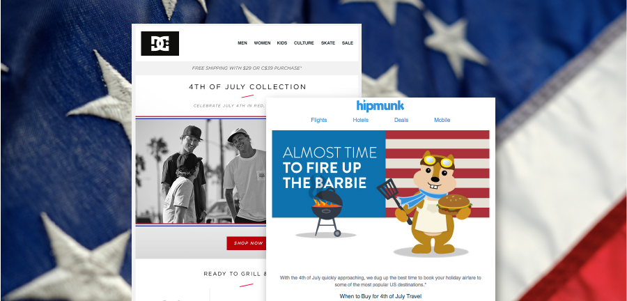 Patriotic Ideas for 4th of July Email Designs