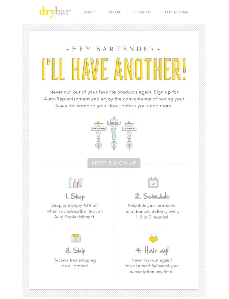 drybar email icons