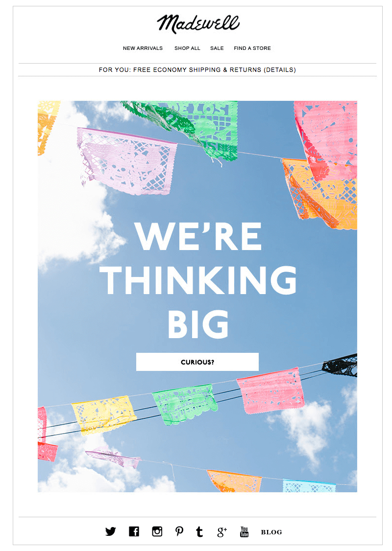 Madewell summer emails