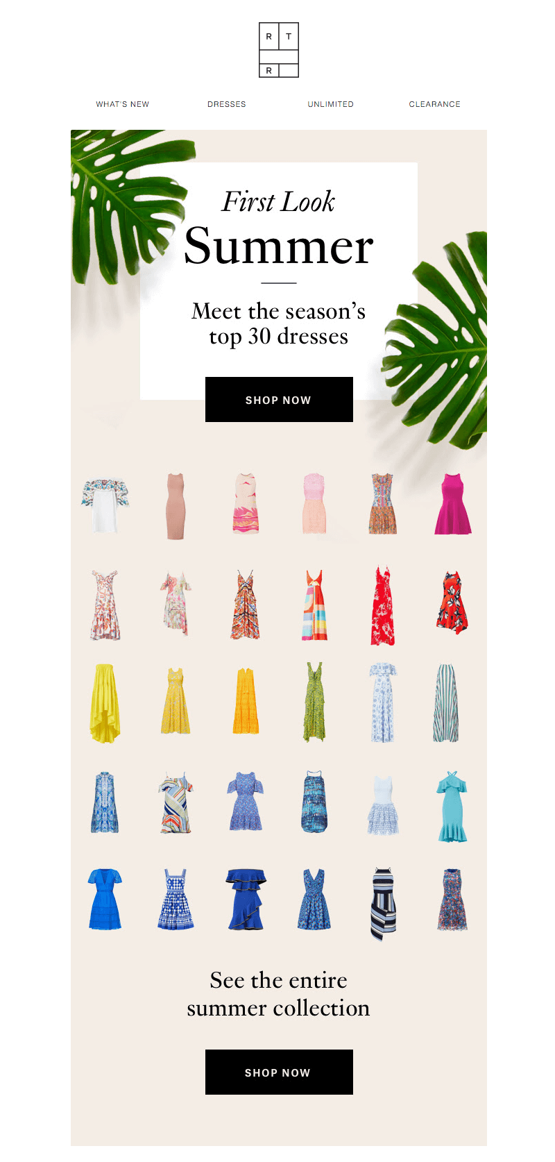 Rent the Runway summer emails