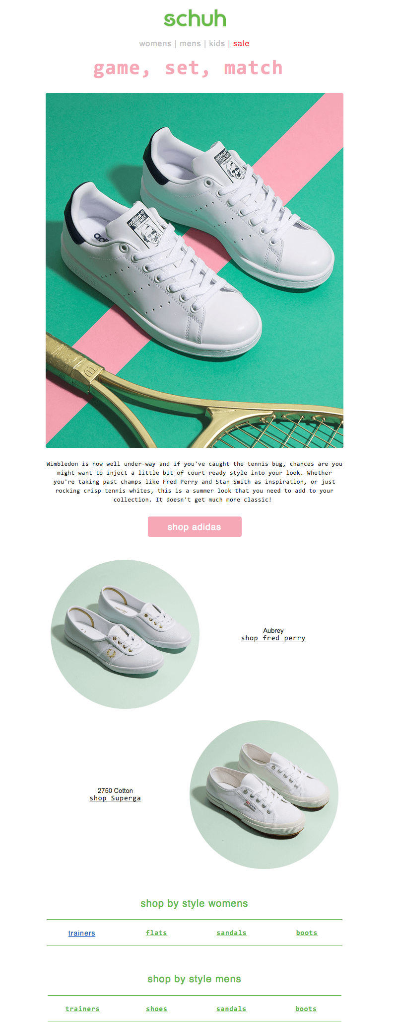 Millennial pink email form Schuh