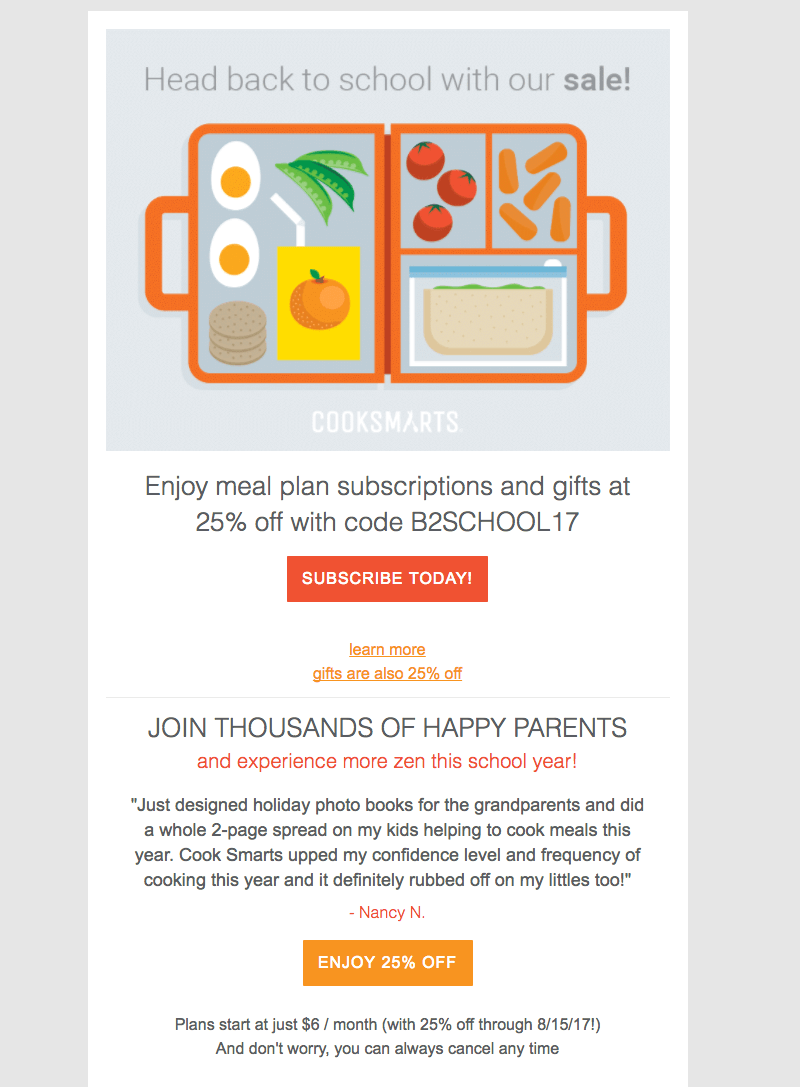 cook smarts back-to-school-email-designs