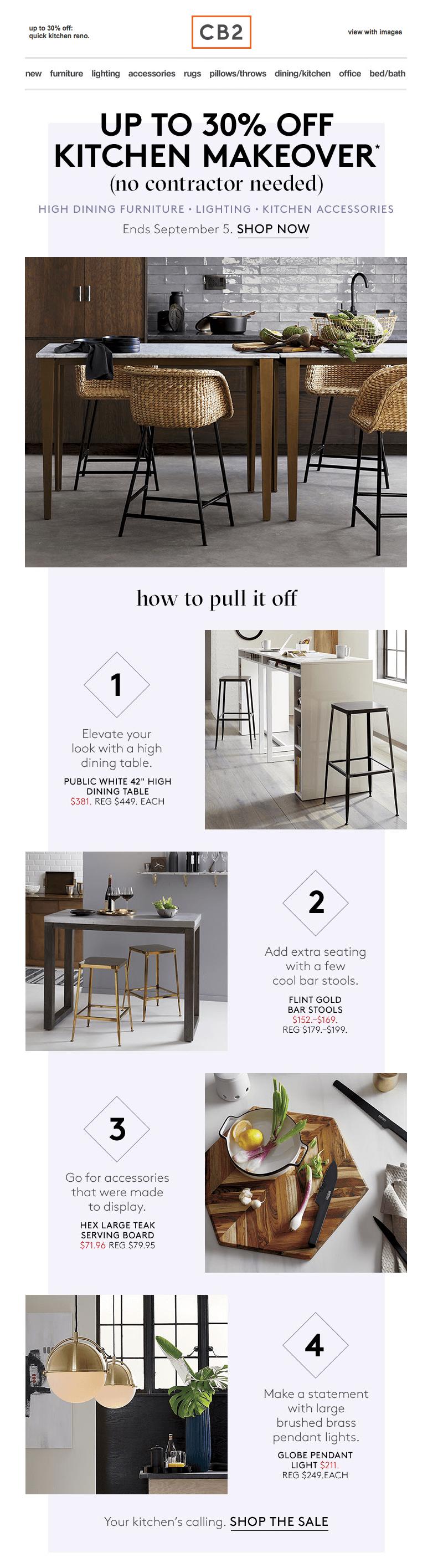 4 Fresh Modern Furniture Email Designs Email Design