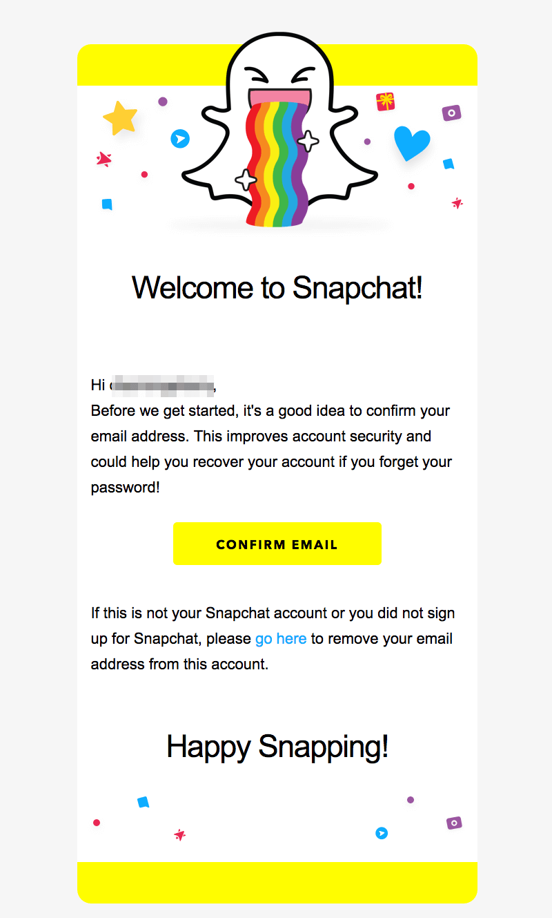 snapchat welcome email design tips