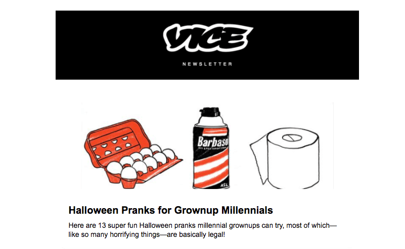 Vice Halloween Email Design