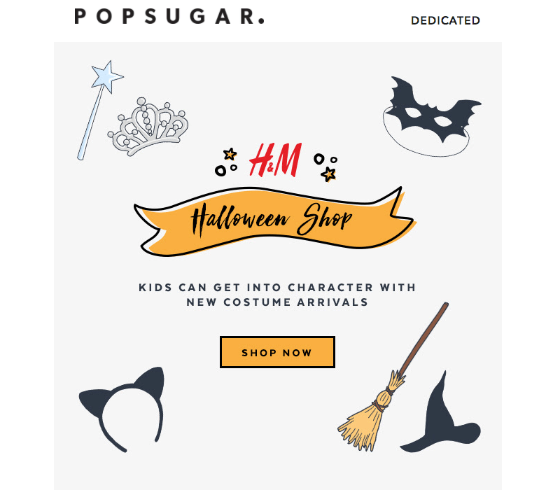 Pop Sugar Halloween Email Design