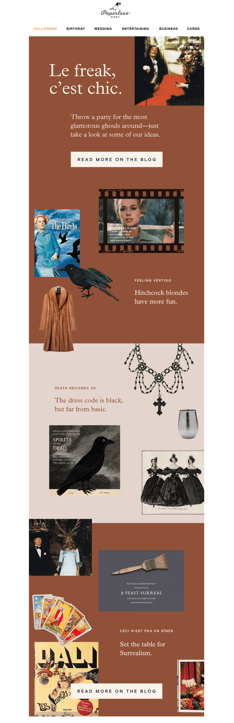 Paperless Post Halloween Email Design