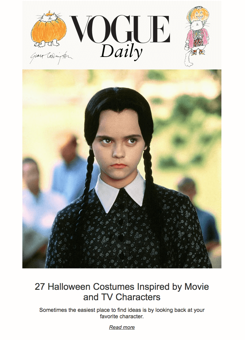 Vogue Daily Halloween Email Design