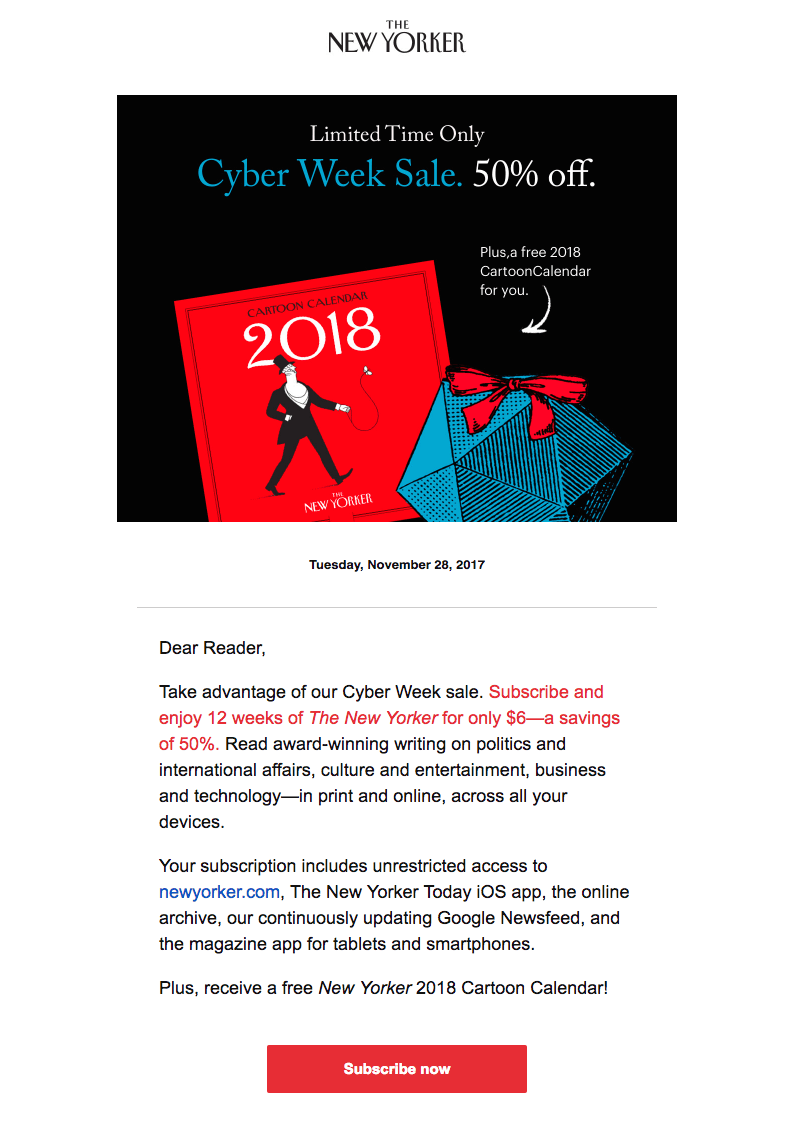 The New Yorker cyber week emails
