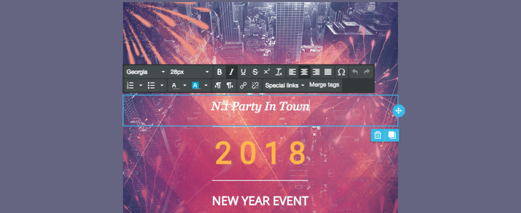new years email design