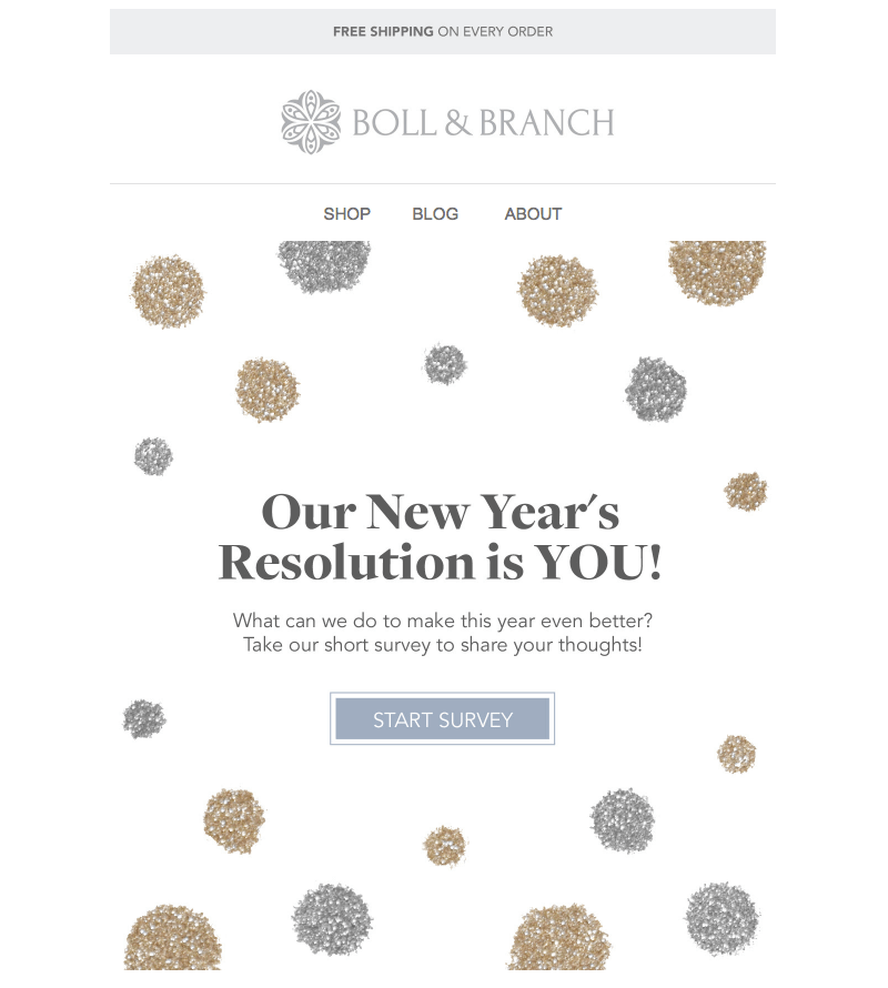 New Year's Email Design