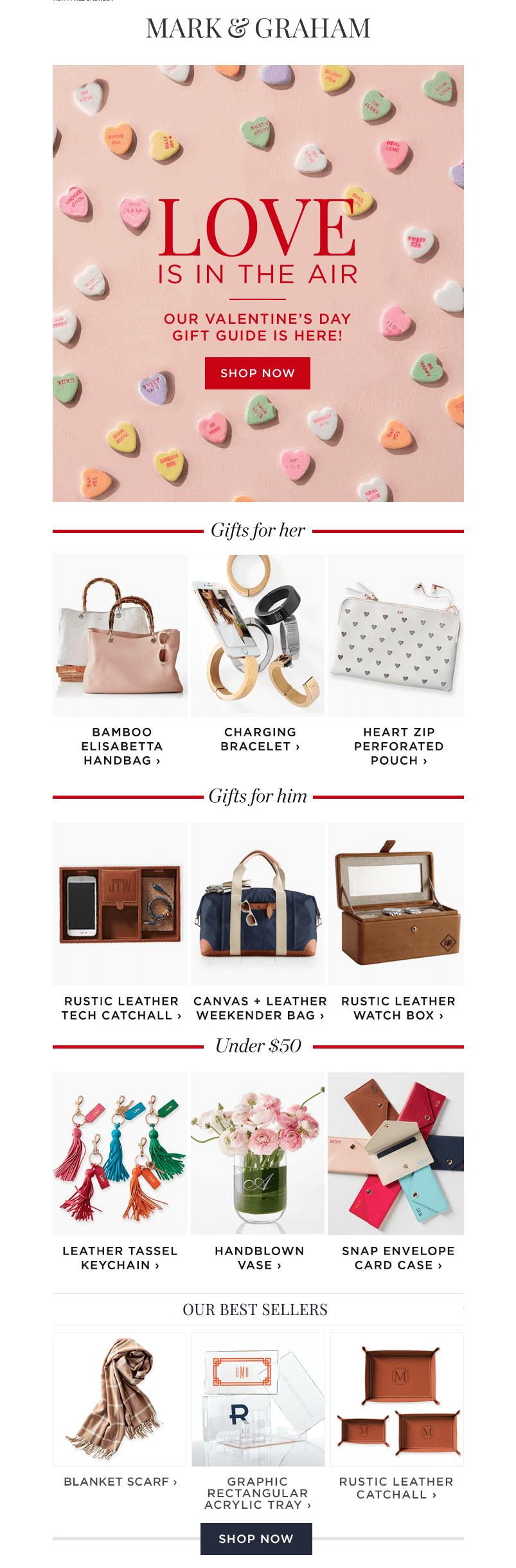 valentine's day email design