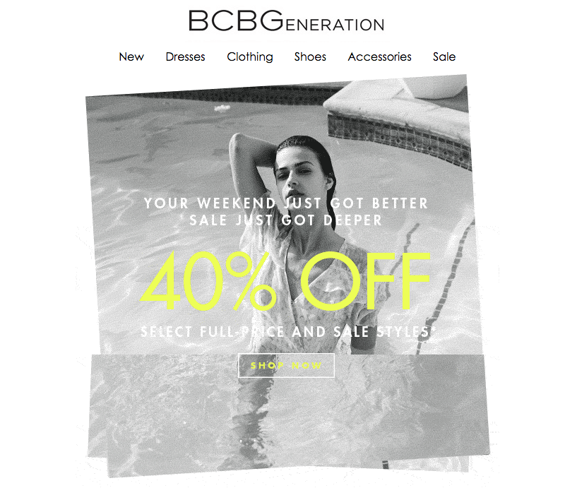 BCBGeneration black and white emails