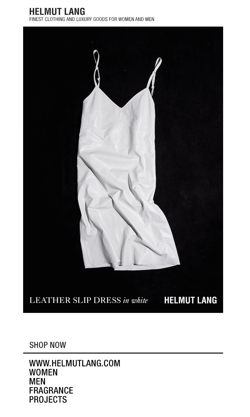 Helmut Lang black and white emails