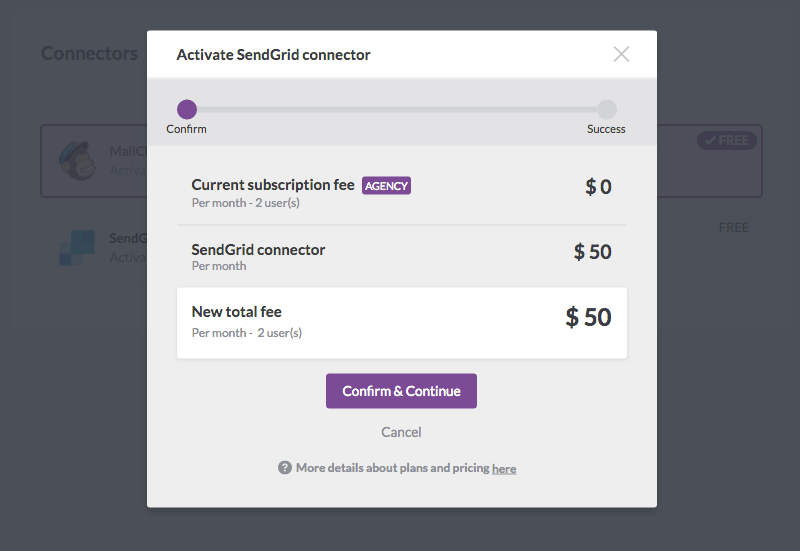 BEE SendGrid connector