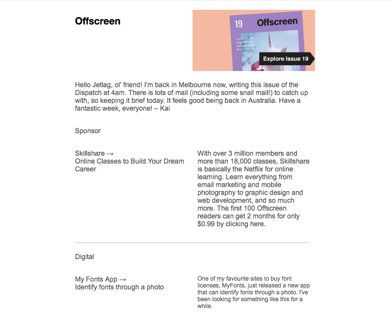 color blocking email