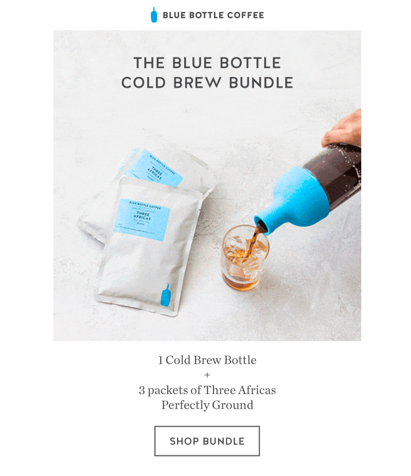 Blue Bottle Coffee Father's Day Email Designs