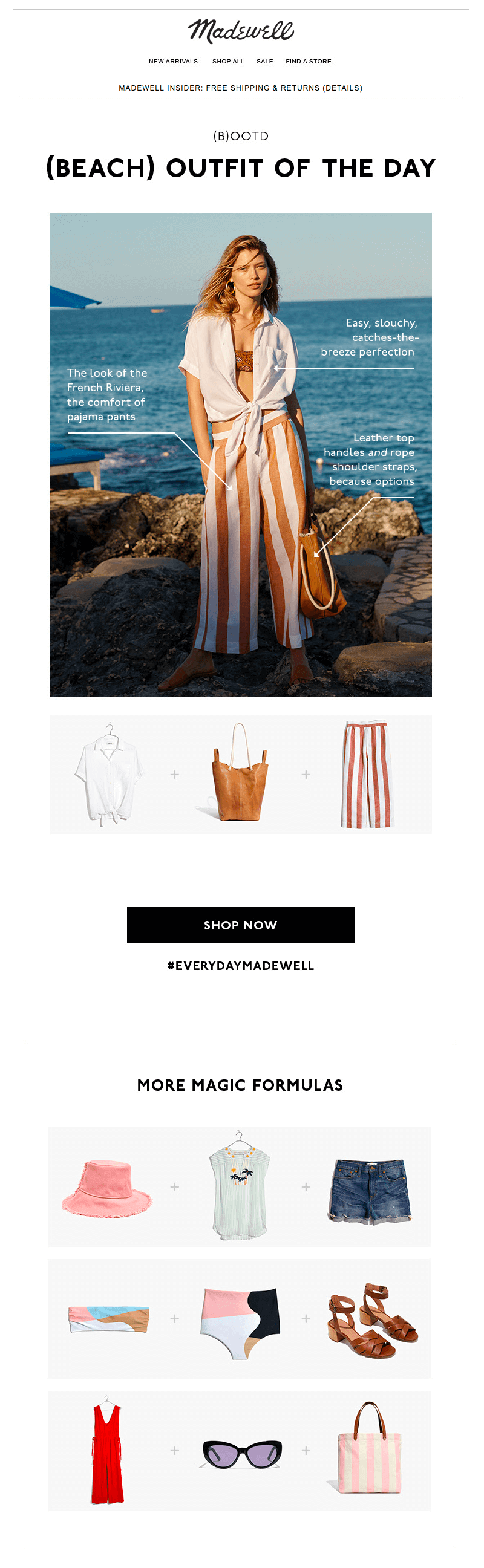 Madewell vacation emails