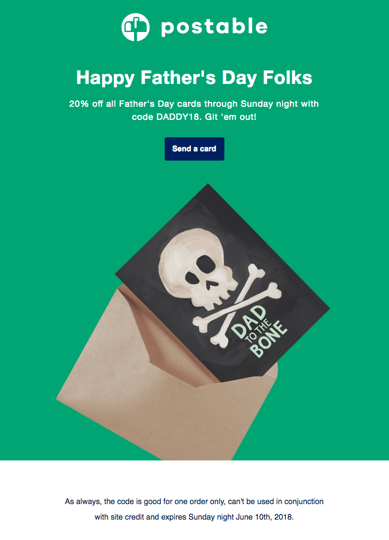Postable Father's Day Email Designs