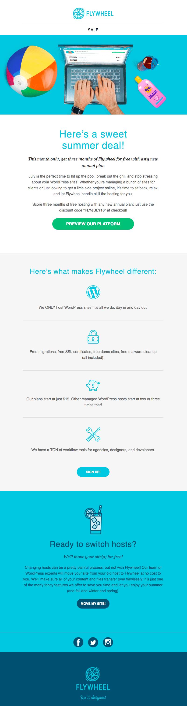 flywheel summer sales emails