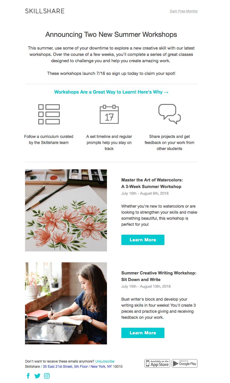 Skillshare responsive email templates