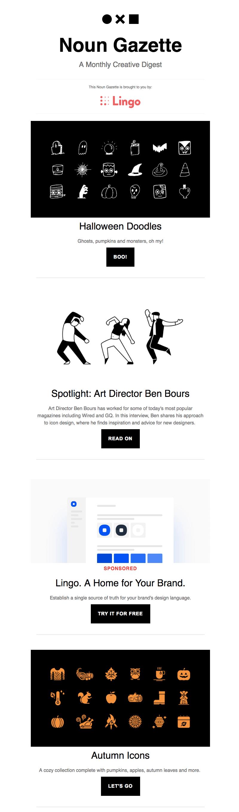 Halloween email design