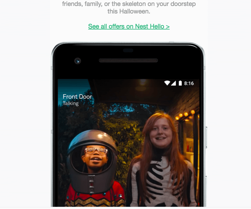 responsive Halloween email