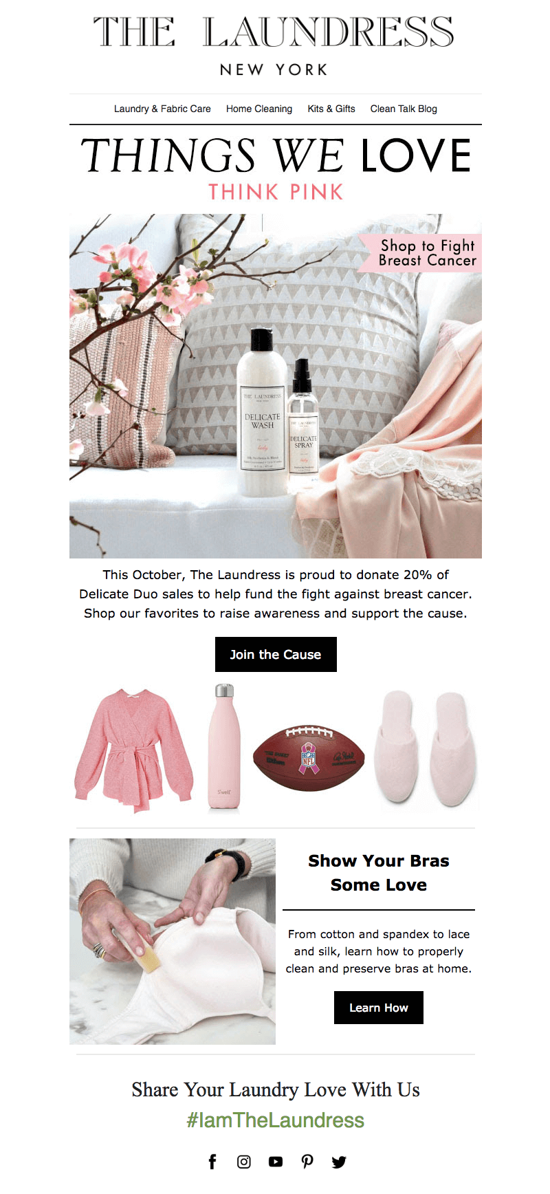 Breast Cancer Awareness Month emails