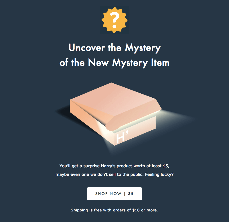 mystery sale emails