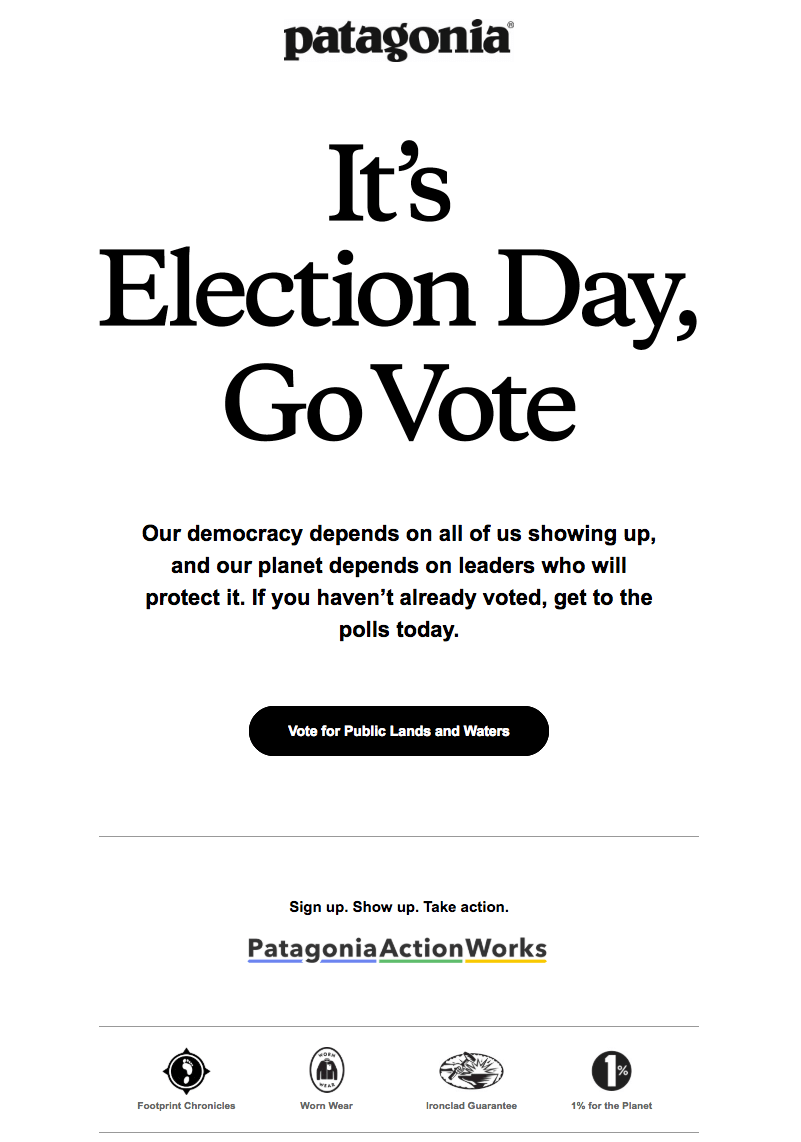 Election Day Emails