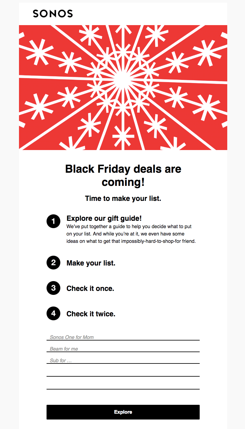 Black Friday Cyber Monday Email Design