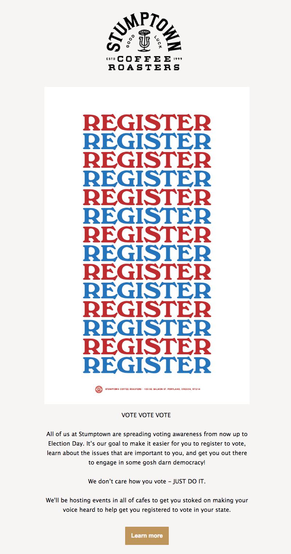 typographic email design