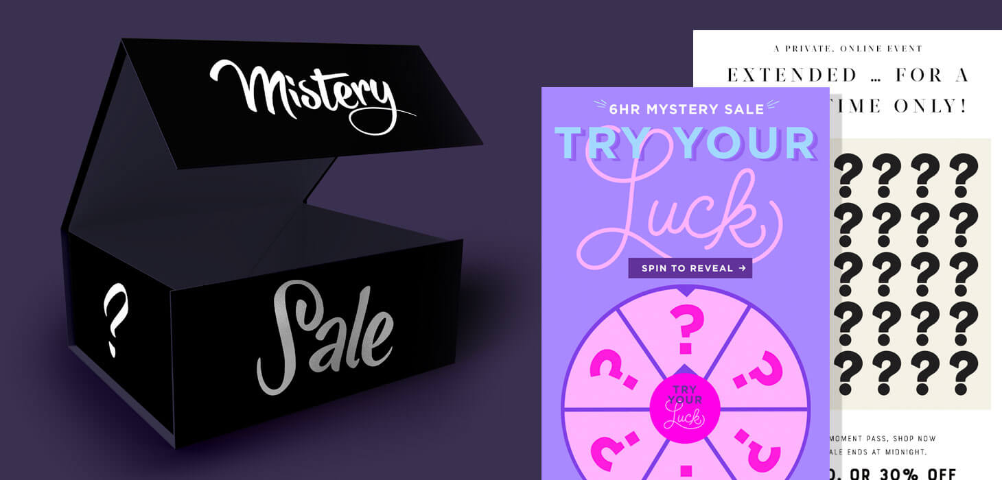11 Mystery Sale Emails With Magnificent Design