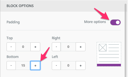 add padding in email design