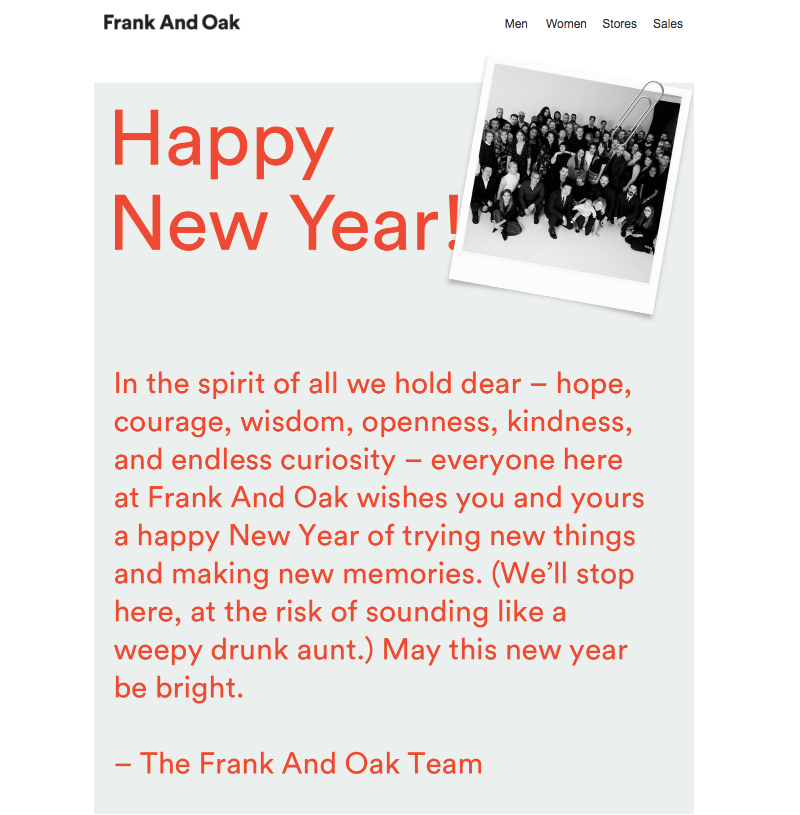 new year email greeting