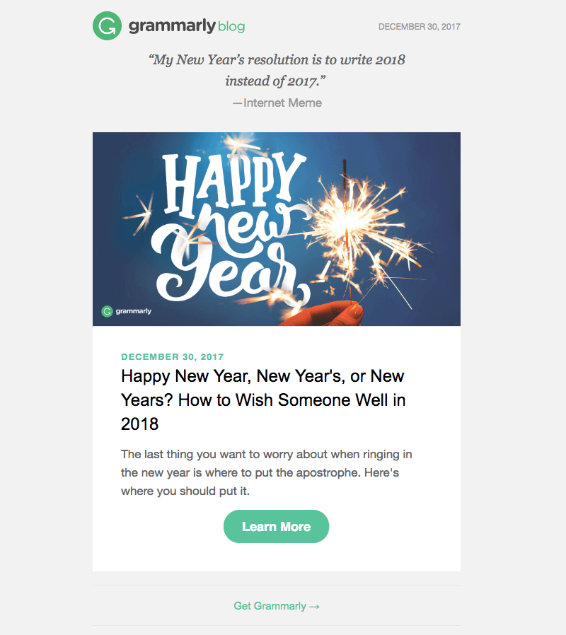 business email happy new year