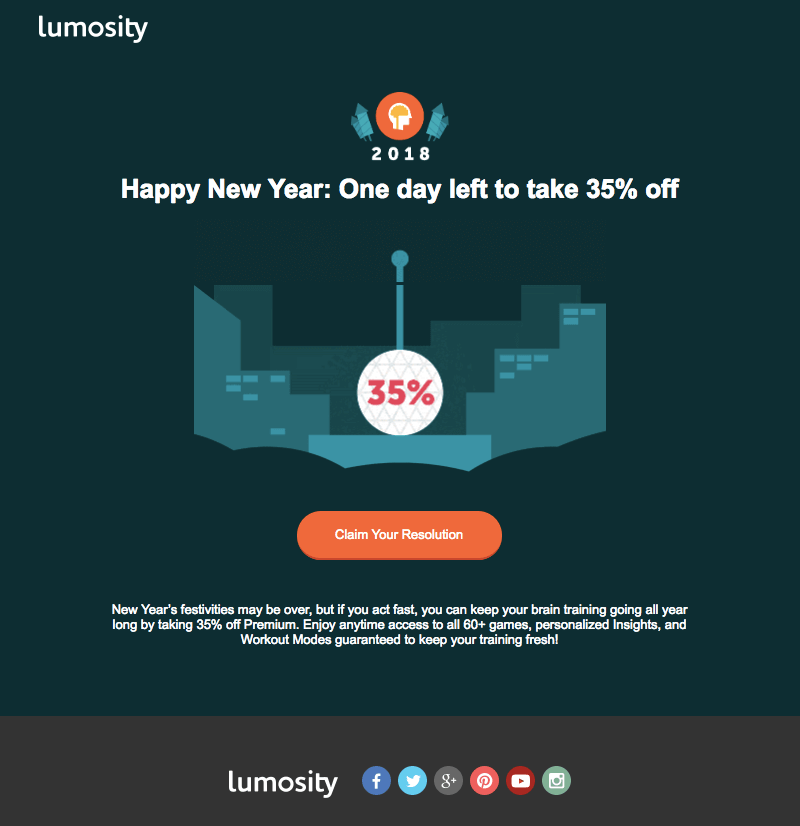 happy new year email marketing